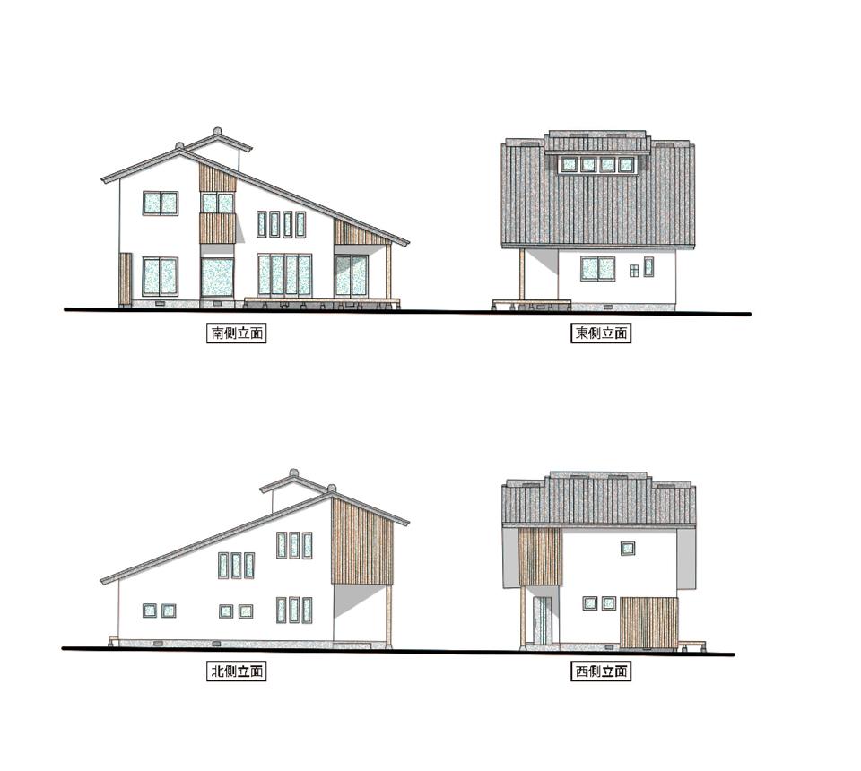 モデルハウス立面図